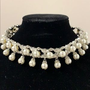 Jewelry - Imitation Pearl and Crystal Choker